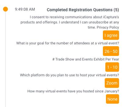 Webinar Registration questions