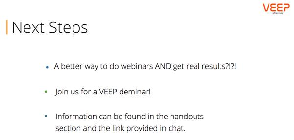 Webinar Next Steps